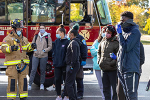 Eastern students learn from Willimantic Fire Department